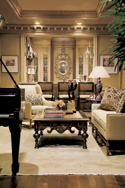 European interior style lisa jennings interiors for Classic house piano